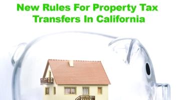 Transferring property taxes in California